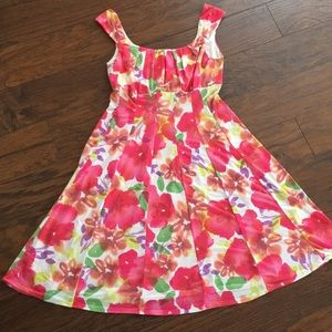Travel spring summer Easter dress floral pink